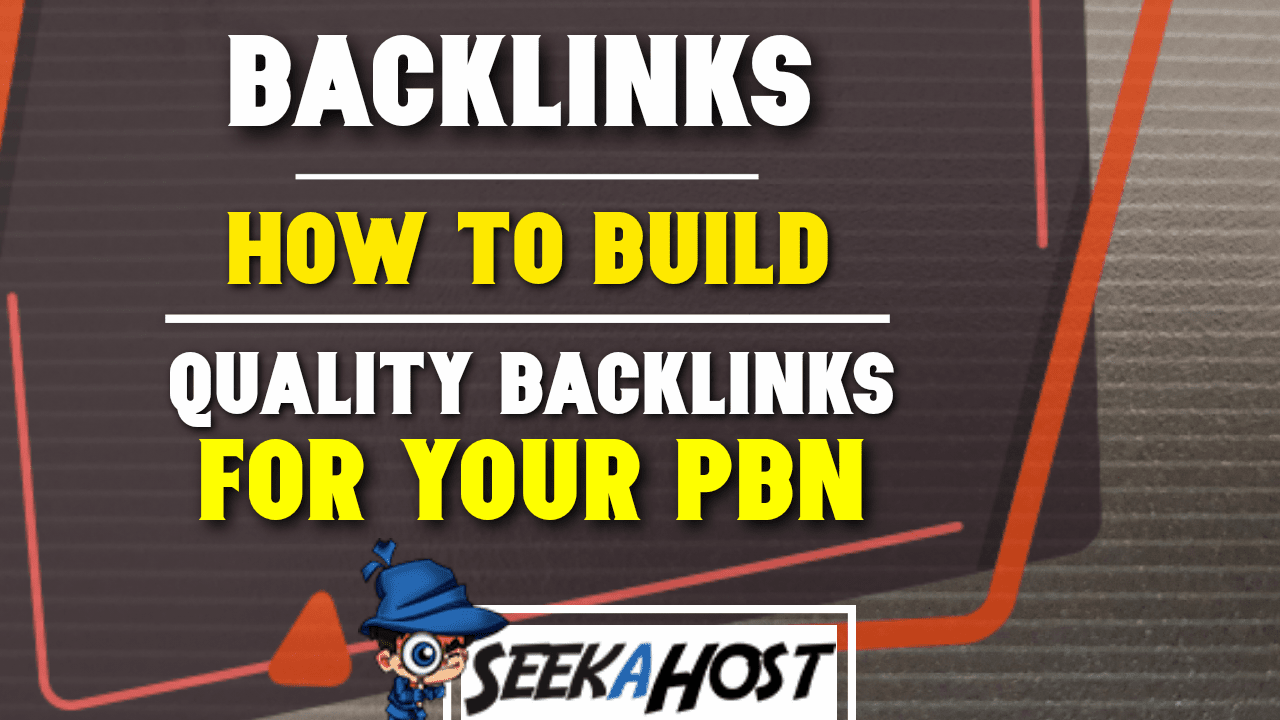 building quality backlinks for PBN