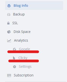 add Clicky analytics