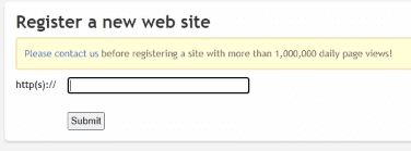 how to register site on clicky