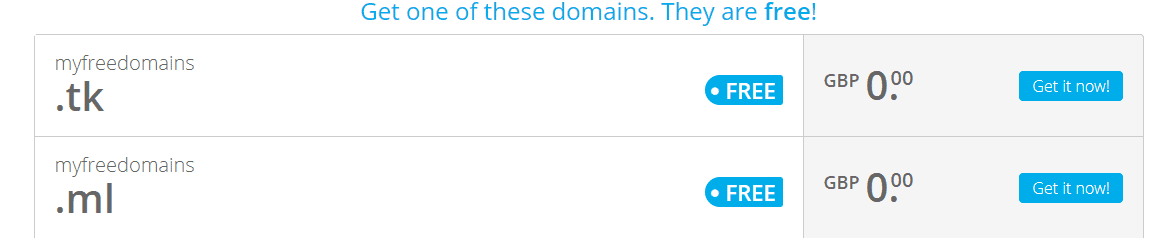 .tk and .ml domains