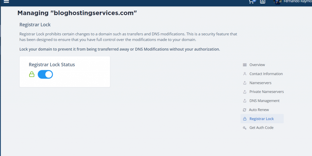 lock registrar lock for pbn
