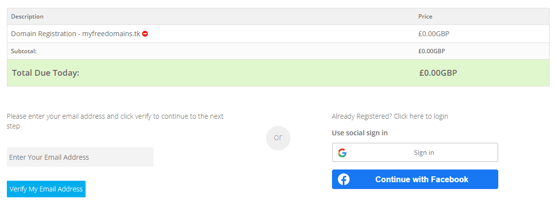 register freenom domain