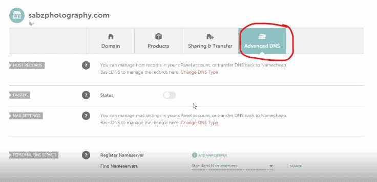 change nameservers on Namecheap