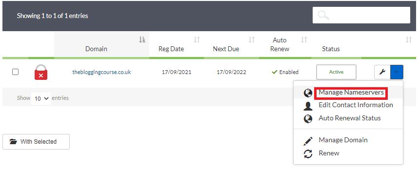 exabytes nameservers