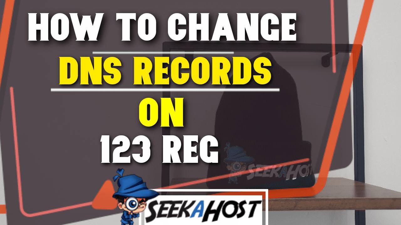 change 123 reg dns records